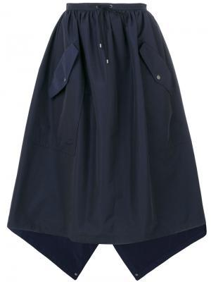 Пышная юбка с карманами Kenzo. Цвет: синий