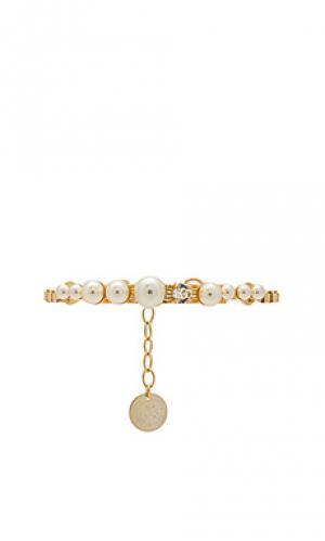 Браслет pearl Anton Heunis. Цвет: металлический золотой