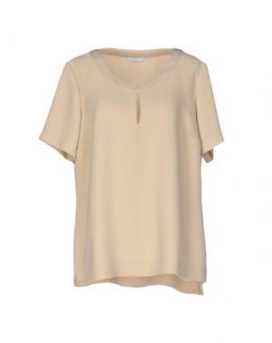 Блузка XANDRES. Цвет: бежевый