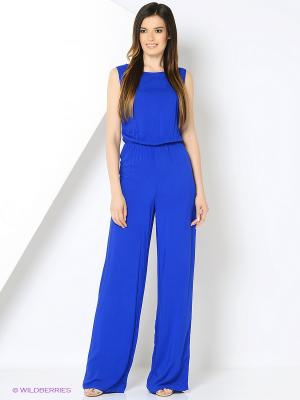 Комбинезон Milana Style. Цвет: синий