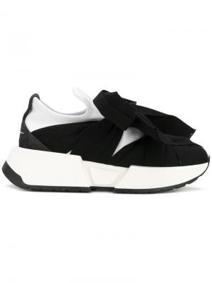 Кроссовки с завязками Mm6 Maison Margiela. Цвет: чёрный