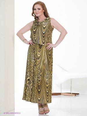 Платье МадаМ Т. Цвет: бежевый, черный