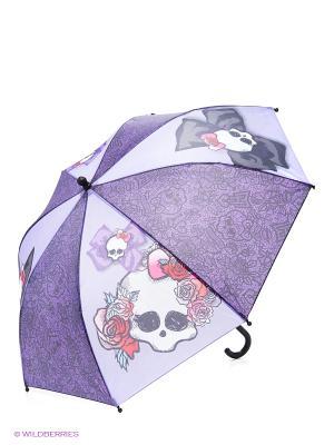 Зонт с узорами Monster High Daisy Design. Цвет: фиолетовый