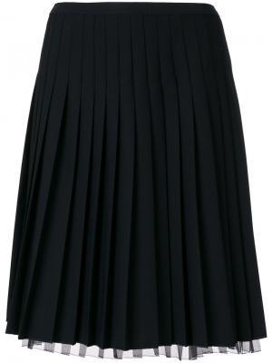 Короткая плиссированная юбка Marc Jacobs. Цвет: чёрный