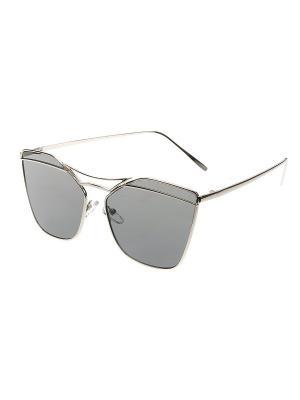 Солнцезащитные очки, iq format. Цвет: серебристый, светло-серый