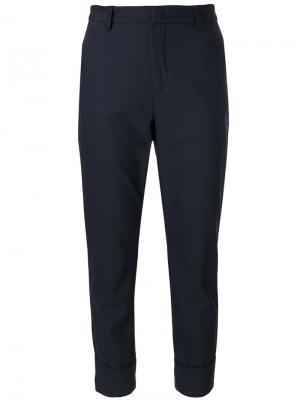 Укороченные брюки строгого кроя Closed. Цвет: синий