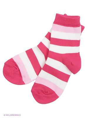 Носки Reima. Цвет: розовый, белый