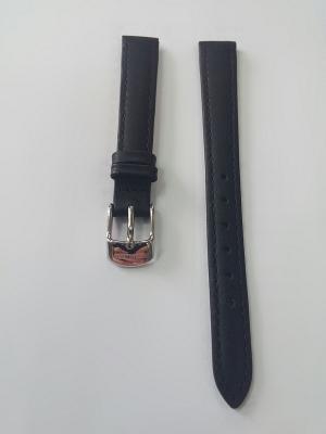 Ремень для часов, ИТАЛЬЯНСКАЯ ГЛ.КОЖА, черный, 12 х 10 мм J.A. Willson. Цвет: черный