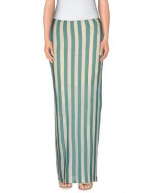 Длинная юбка MANILA GRACE. Цвет: светло-зеленый