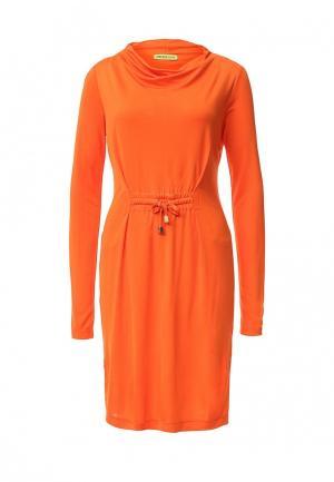 Платье Versace Jeans. Цвет: оранжевый