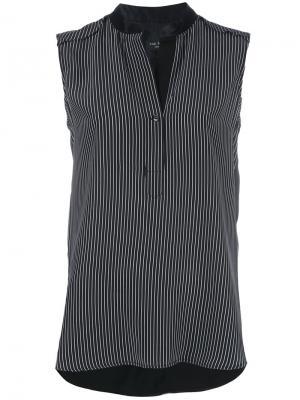 Полосатая блузка без рукавов Rag & Bone. Цвет: чёрный