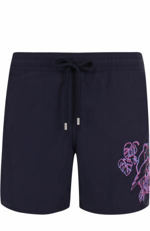 Плавки-шорты с вышивкой Vilebrequin. Цвет: темно-синий