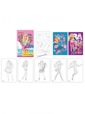 Набор модного дизайнера Mattel Barbie с наклейками. Цвет: голубой