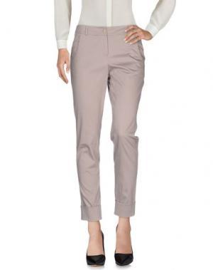 Повседневные брюки TRIXI SCHOBER. Цвет: голубиный серый