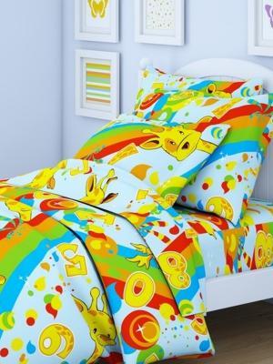 Комплект в кроватку Ясли BGR-52, перкаль, простыня на резинке Letto. Цвет: желтый