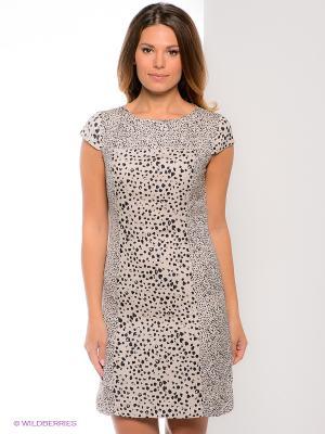 Платье Oltre. Цвет: светло-бежевый, черный