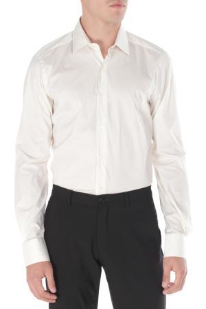 Полуприлегающая рубашка с застежкой на пуговицы Pal Zileri. Цвет: кремовый