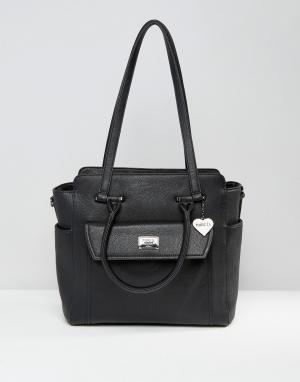 Marc B Фактурная сумка на плечо. Цвет: черный