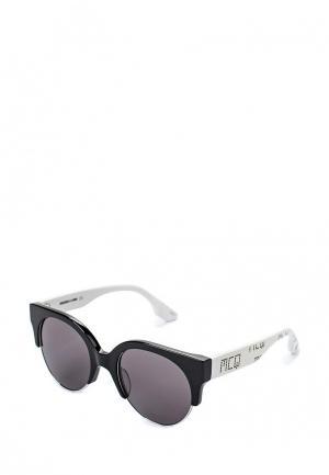 Очки солнцезащитные McQ Alexander McQueen. Цвет: черно-белый
