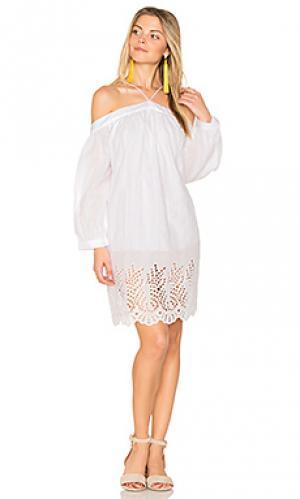 Платье pearl PIPER. Цвет: белый