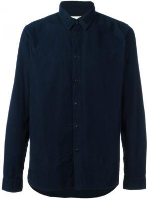 Классическая рубашка Folk. Цвет: синий
