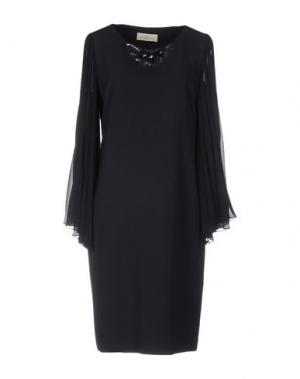 Платье до колена CORTE DEI GONZAGA. Цвет: темно-синий