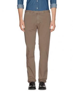 Повседневные брюки LUIGI BORRELLI NAPOLI. Цвет: голубиный серый