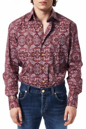 Рубашка Billionaire. Цвет: красный