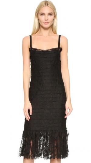 Платье без рукавов кружева Chanel (бывшее в употреблении) What Goes Around Comes. Цвет: голубой
