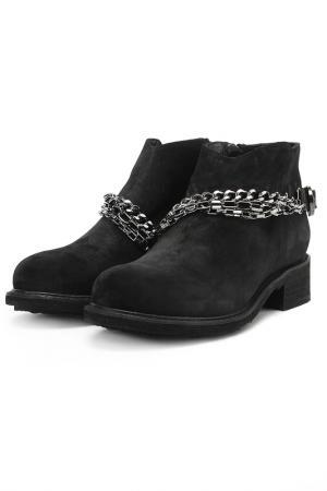 Ботинки с металлическим декором Dino Ricci. Цвет: черный