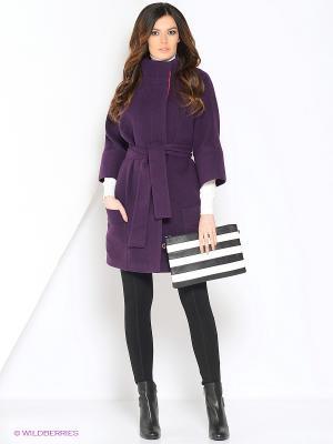 Пальто Amulet. Цвет: темно-фиолетовый