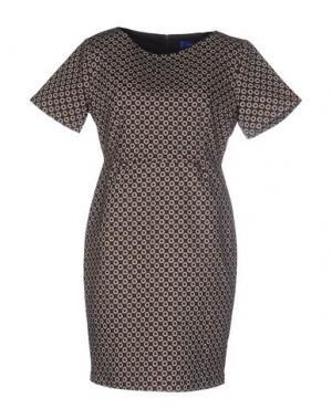 Короткое платье ANONYME DESIGNERS. Цвет: красно-коричневый