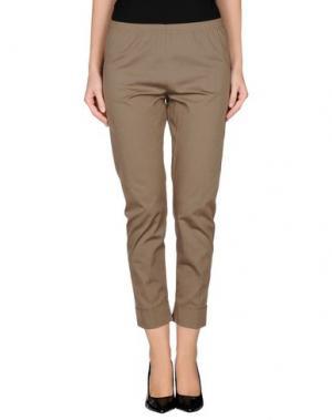 Повседневные брюки CORINNA CAON. Цвет: хаки