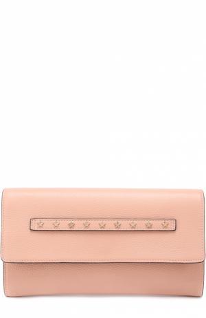 Клатч с металлическими заклепками REDVALENTINO. Цвет: светло-розовый