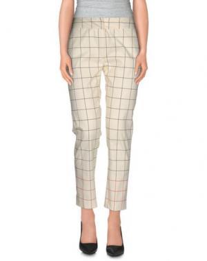 Повседневные брюки MAURIZIO PECORARO. Цвет: слоновая кость