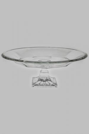 Тарелка для фруктов на ножке Crystalite Bohemia. Цвет: прозрачный
