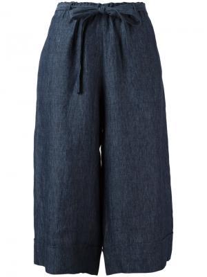Укороченные брюки палаццо Masscob. Цвет: синий
