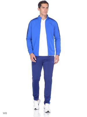Костюм спортивный  Techstripe Tricot Suit op PUMA. Цвет: голубой, синий