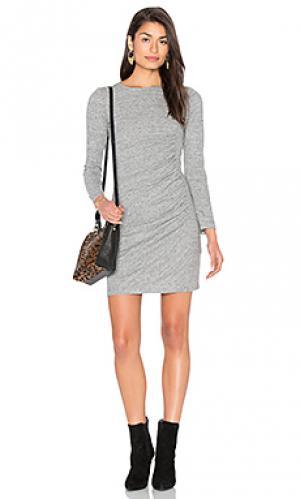 Платье из джерси с рюшами IKKS Paris. Цвет: серый