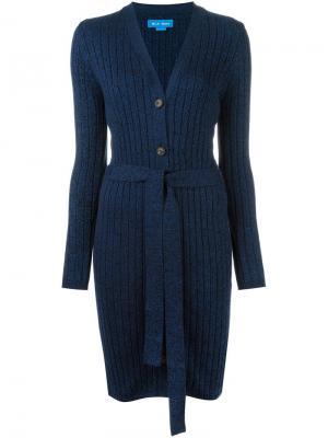 Удлиненный кардиган Pamela Mih Jeans. Цвет: синий