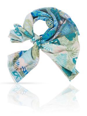 Палантин MICHEL KATANA`. Цвет: синий, голубой, серо-зеленый