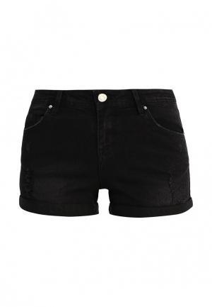 Шорты джинсовые Jennyfer. Цвет: черный