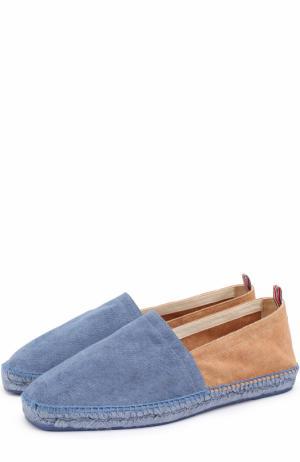 Текстильные эспадрильи на джутовой подошве Castaner. Цвет: синий