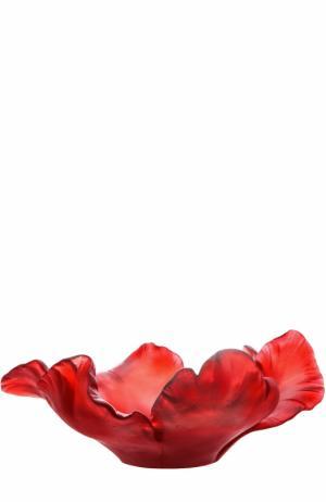 Ваза для фруктов Tulip medium Daum. Цвет: красный