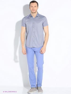 Рубашка Dairos. Цвет: серый, синий