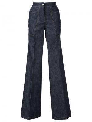 Расклешенные джинсы Derek Lam. Цвет: синий