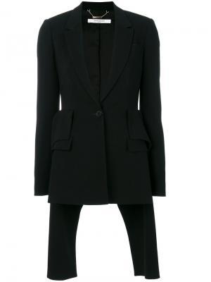 Пиджак с фалдой Givenchy. Цвет: чёрный