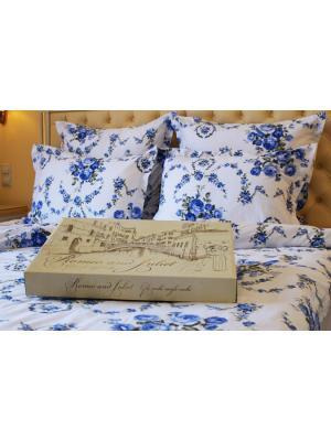 Комплект постельного белья ROMEO AND JULIET. Цвет: синий, белый