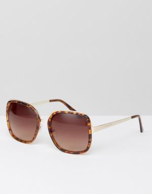 South Beach Большие черепаховые солнцезащитные очки в квадратной оправе Beac. Цвет: коричневый