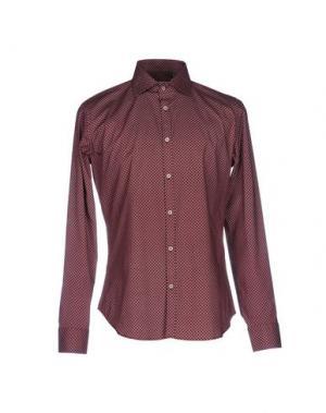 Pубашка MASSIMO BRUNELLI. Цвет: красно-коричневый